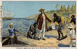 Victor Schoelcher bringing news of their freedom to the slaves of Martinique, c1848