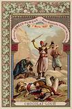 Turkish Bashi-bazouks mutilating Greek corpses, Akrotiri, Crete, Greco-Turkish War, 7 March 1897