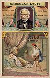 Daniel Auber, French composer, and a scene from his opera La Muette de Portici