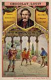 Gaetano Donizetti, Italian composer, and a scene from his opera La Favorite