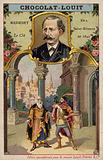 Jules Massenet, French composer, and a scene from his opera Le Cid