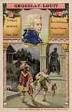 Wolfgang Amadeus Mozart, Austrian composer, and a scene from his opera Don Juan