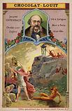 Jacques Offenbach, French composer, and a scene from his opera Orpheus In The Underworld