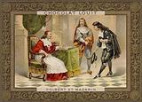 Cardinal Mazarin and Jean-Baptiste Colbert, French statesmen, 17th Century