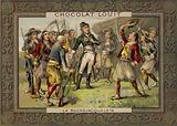 Henri de la Rochejacquelein addressing his soldiers, Vendee Revolt, French Revolution