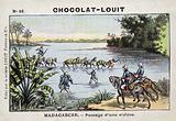Crossing a river, Madagascar
