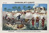 Battle of Kousseri, on the banks of the River Chari, French Sudan, 1900