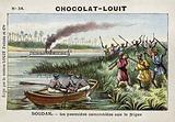 The first gunboat on the River Niger, French Sudan