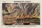 Destruction of Saint-Pierre, Martinque, by the eruption of Mont Pelee, 1902