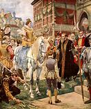 Queen Elizabeth opening the Royal Exchange