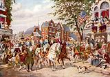 Washington's entry into New York, 23 April 1789