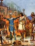 Fitzstephen burns his boats, 1169