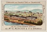Principal establishment of E Mercier & Co, Champagne producers, Epernay, France