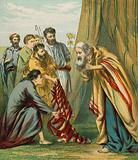 Joseph receives the coat of many colours from his father