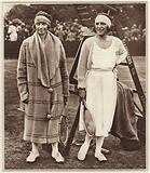Kitty Godfree and Suzanne Lenglen