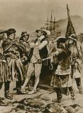 Sir Humphrey Gilbert claims Newfoundland for England