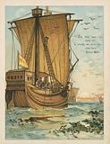 Columbus sailing through the Sargasso Sea