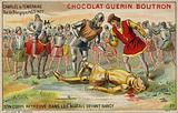 The discovery of the body of Charles the Bold, Duke of Burgundy, in a marsh after the Battle of Nancy