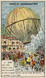 First launch of a hot air balloon by the Montgolfier Brothers, Annonay, France, 5 June 1783