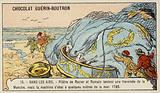 Pilatre de Rozier and Romain's unsuccessful attempt to cross the English Channel in a balloon, 1785