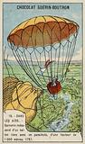 Garnerin descending from a balloon by parachute, 1797