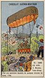 Testu-Brissy's balloon ascent on horseback, Meudon, France, 1798