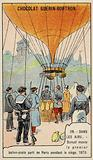 Duruof making the first postal balloon flight during the Siege of Paris, 1870