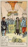 Gambetta and Spuller's escape from the Siege of Paris by balloon, October 1870