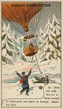 Rolier and Bezier's postal balloon flight from Paris to Norway, December 1870