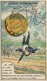 La Mountain falling from his balloon, Iona, USA, 1874