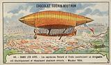 Renard and Krebs' electrically powered airship, Meudon, France, 1884
