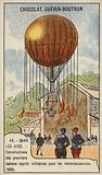 Construction of the first captive military balloons for reconnaissance purposes, 1886