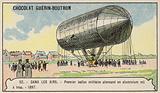 First German hand-powered aluminium military balloon, 1897