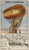 Anthony Varicle flying his dirigible airship to Alaska to resupply overwintering gold prospectors, 1898