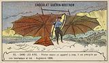 Pilcher testing a glider, England, 1899