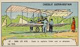 Captain Ferber carrying out trials of an aeroplane, Issy, France, 1905