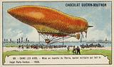 Launch of the military airship Patrie, which made the flight from Paris to Verdun, 1906