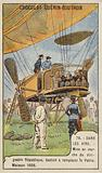 Launch of the French military airship La Republique, replacement for the lost Patrie, Moisson, France, 1908