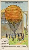 Launching of weather balloons to measure air currents, Trappes, France, 1908