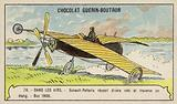Esnault-Pelterie making a successful flight over a pond, Buc, France, 1908