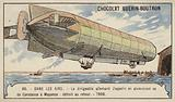German Zeppelin airship LZ4 setting out on a flight from Lake Constance to Mainz, 1908