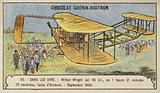 Flight by Wilbur Wright covering 90 kilometres in 1 hour 21 minutes, Camp d'Auvours, France, September 1908