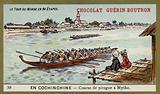 Canoe race at Mytho, Cochinchina