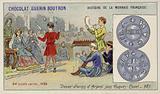 Silver denier parisis of the reign of Hugh Capet, 987