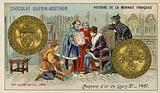 Gold coins of Louis XI, 1461