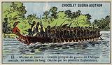 Large Central African war canoe
