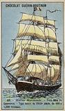 French three-masted merchant ship, 18th Century