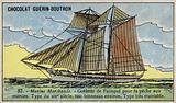 Paimpol schooner, Breton cod fishing boat, 19th Century