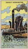 Steam dredger