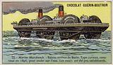 Roller ship designed by Ernest Bazin, 1896